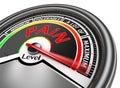 Pain level conceptual meter indicate maximum
