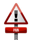Pain road sign illustrations design over a white background Stock Photos
