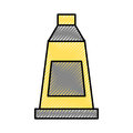 Paint bottle isolated icon
