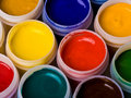 Paint bottles Royalty Free Stock Photos