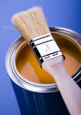 Paint and brush Stock Image