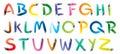 Paint brush alphabet