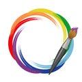 Paint Brush Rainbow Background.