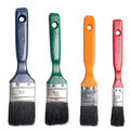Paint brush set Stock Photos