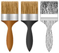 Paint brush set Royalty Free Stock Images