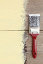 Paint brush on a wooden background Royalty Free Stock Photo