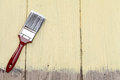 Paint brush on a wooden background Royalty Free Stock Photos