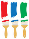 Paint brushes Stock Photos