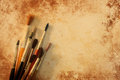 Paint brushes grunge texture Royalty Free Stock Photo
