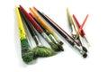 Paint brushes photo of used Stock Photo