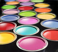Paint buckets Stock Image