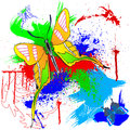 Paint and butterfly Royalty Free Stock Photos