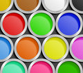 Paint Cans Royalty Free Stock Photography