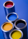 Paint and cans Royalty Free Stock Image