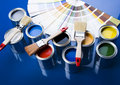 Paint and cans Royalty Free Stock Images