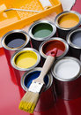 Paint and cans Royalty Free Stock Photography