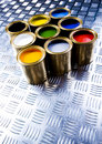 Paint and cans Royalty Free Stock Photo