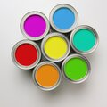 Paint Cans in a circle Royalty Free Stock Image