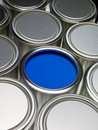 Paint cans full frame Royalty Free Stock Photography