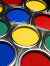 Paint cans full frame Royalty Free Stock Images