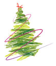 Paint Christmas Tree Royalty Free Stock Photo