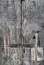 Paint-dripped Metal Door Royalty Free Stock Photo