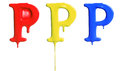 Paint dripping alphabet with different variations in red yellow and blue Royalty Free Stock Photography