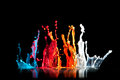 Paint explosion macro image of sculpture Royalty Free Stock Photos