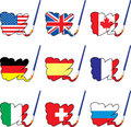 Paint flags Stock Image
