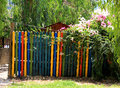 Paint garden Gate Royalty Free Stock Photo