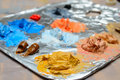 Paint Mixing Stock Photography