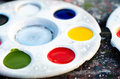 Paint palette close up color Royalty Free Stock Photo