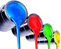 Paint pots d illustration of Royalty Free Stock Images
