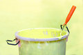 Paint-roller and Paint bucket Stock Photos