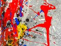 Paint smudges. Color chaos. Mixed different colors. Expressionism