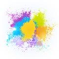 Paint Splash Color Festival Happy Holi India Holiday Traditional Celebration Greeting Cart