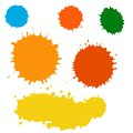 Paint splash vector set of brush strokes collection isolated Royalty Free Stock Photos