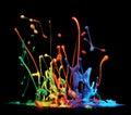 Paint splashing Royalty Free Stock Photo