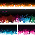 Paint splat banners background headers Stock Images
