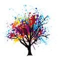 Paint splat tree Royalty Free Stock Photo