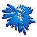 Paint Splatter Spiral Blue Royalty Free Stock Photography