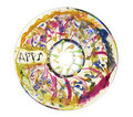 Paint splattered compact disc Royalty Free Stock Photography