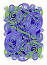 Paint Swirls Spirals Textures Royalty Free Stock Photo