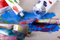 Paint tubes Royalty Free Stock Photos
