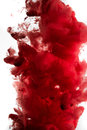 Paint in water, red, colorful, blue, green, yellow Royalty Free Stock Photo