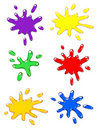 Paintball color splash set. Royalty Free Stock Photos