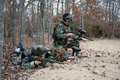 Paintball-Kinder Stockfoto