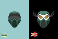 Paintball mortal mask vector illustration Stock Photography