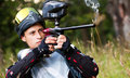 Paintball shooter Stock Photo