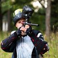 Paintball shooter Royalty Free Stock Photo